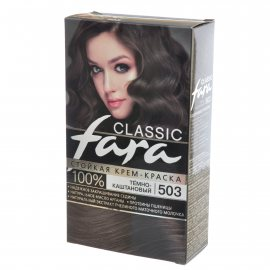 Крем-краска для волос FARA Classic стойкая 503 Темно-каштановый