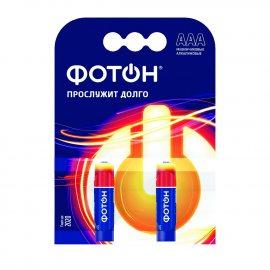 Батарейка ФОТОН Алкалиновая LR03 AAA КР 2шт