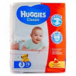Подгузники HUGGIES Classic 4-9кг 78шт S(3)