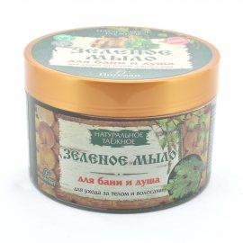 Мыло жидкое для бани и душа НАТУРАЛЬНОЕ ТАЕЖНОЕ Зеленое 450г