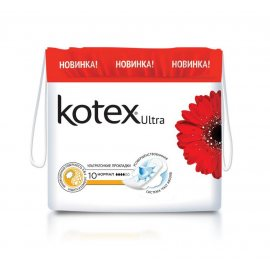 Прокладки KOTEX с крылышками 10шт Ultra Dry Normal сеточ.
