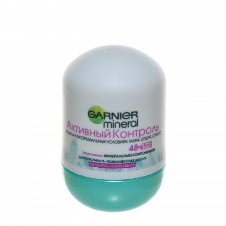 Дезодорант-антиперспирант GARNIER Mineral женский ролик Активный контроль 48ч. 50мл