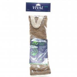 Мочалка для тела VIVAL Крапива длинная с ручками двусторонняя