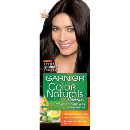 Крем-краска для волос GARNIER COLOR NATURALS стойкая 3 Темный каштан