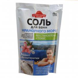 Соль для ванн МИРОВЫЕ РЕЦЕПТЫ КРАСОТЫ Восстановление и тонус Мраморного моря 500г