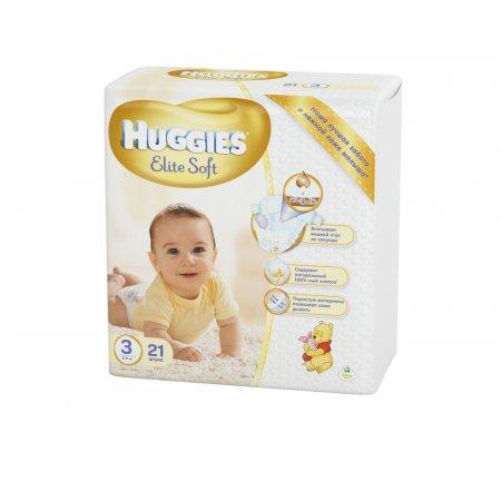 Подгузники HUGGIES Elite&Soft 5-9кг 21шт