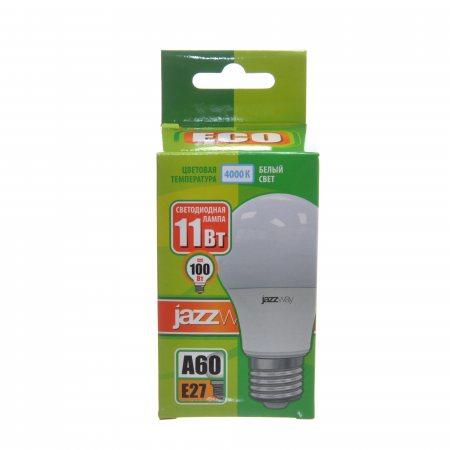 Лампа светодиодная Pled-Eco JAZZWAY Е27 11w A60 4000К,белый свет