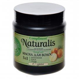 Маска для волос COMPLIMENT Naturalis Укрепление,блеск,объем с луком 3в1 500мл