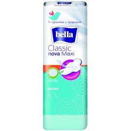 Прокладки BELLA CLASSIC NOVA дышащие с крылышками 10шт Max drainette