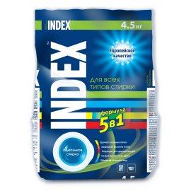 Стиральный порошок INDEX для всех типов стирки для белых и цветных вещей 4.50кг