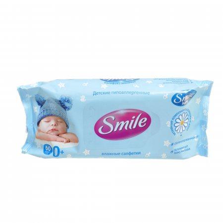 Салфетки влажные для детей SMILE Baby NEW BORN 60шт 0+