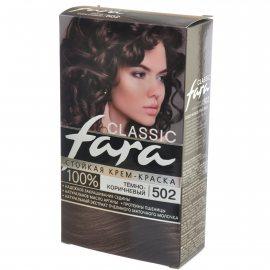 Крем-краска для волос FARA Classic стойкая 502 Темно-коричневый