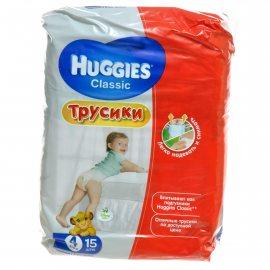 Подгузники-трусики HUGGIES Classic 9-14кг 15шт M(4)