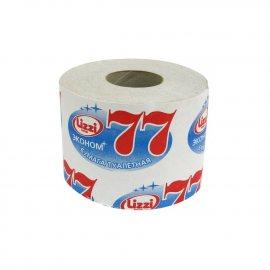 Бумага туалетная LIZZI однослойная Эконом 77м