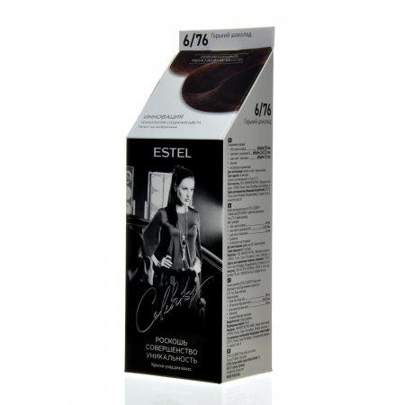 Краска для волос ESTEL St-Petersburg Celebrity уход без аммиака 6.76 Горький шоколад