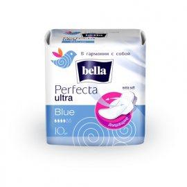 Прокладки BELLA PERFECTA дышащие с крылышками 10шт Ultra Blue Extra Soft