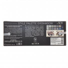 Тени TRIUMPF Style Palette Eyeshadow двенадцатицветные №901 Золотой smoky Палитра