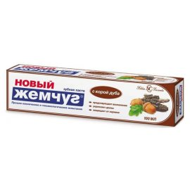 Зубная паста НОВЫЙ ЖЕМЧУГ Кора дуба 100мл