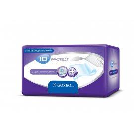 Пеленки iD PROTECT одноразовые впитывающие 60х60 10шт Disposable Underpads