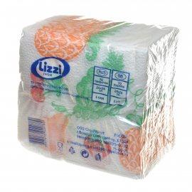 Салфетки бумажные LIZZI 70шт 24х24 Однослойные Фрукты