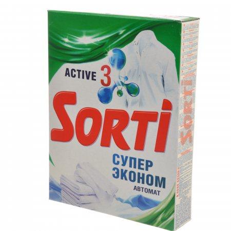 Стиральный порошок SORTI Автомат Супер эконом ACTIVE 3 350г