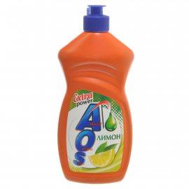 Средство для мытья посуды AOS Лимон Extra Power 450г