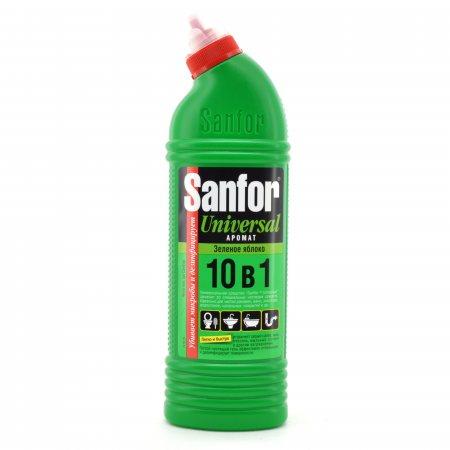 Средство для чистки и дезинфекции SANFOR Universal 10в1 Зеленое яблоко 750г