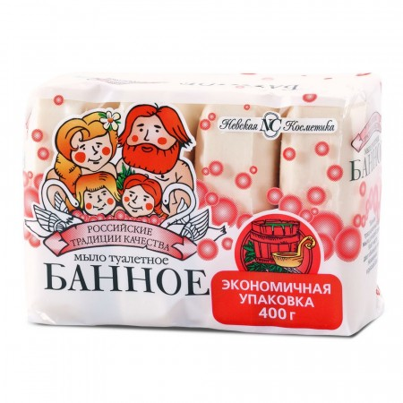 Мыло туалетное БАННОЕ Твердое 4x100г