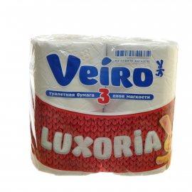Бумага туалетная LINIA VEIRO 4 рулона трехслойная Luxoriа
