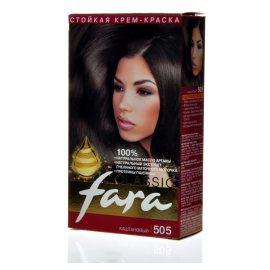 Крем-краска для волос FARA Classic стойкая 505 Каштановый