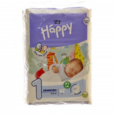 Подгузники BELLA HAPPY BABY 2-5кг 42шт Newborn 1