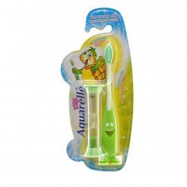 Зубная щетка AQUARELLE KIDS д/детей старше 3х лет MIX асс +подарок песочн.часы