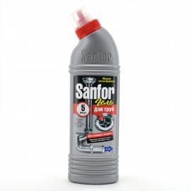 Средство для удаления засоров в трубах SANFOR 5 мин. 500г