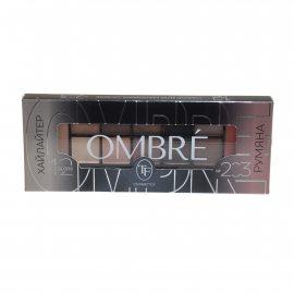 Набор для макияжа TRIUMPF OMBRE/хайлайтер, румяна, тени, тон 203