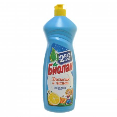 Средство для мытья посуды БИОЛАН Апельсин и Лимон 900г