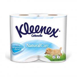 Бумага туалетная KLEENEX 4 рулона трехслойная Natural Care