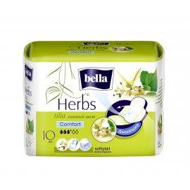 Прокладки BELLA HERBS Comfort 10шт Экстракт Липового цвета softiplait 1класс