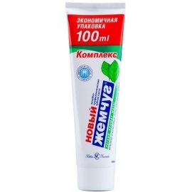Зубная паста НОВЫЙ ЖЕМЧУГ Комплекс Легкий аромат мята 100мл