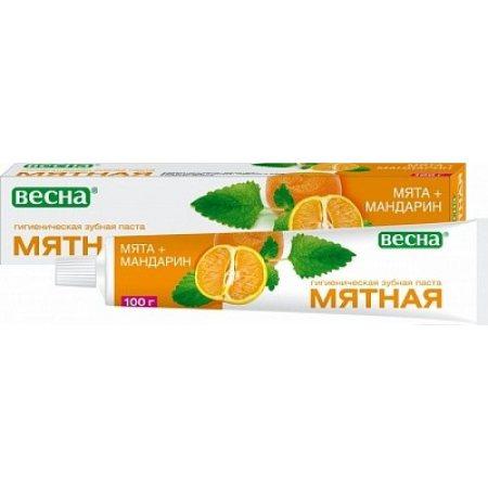 Зубная паста МЯТНАЯ Мята+Мандарин 100г