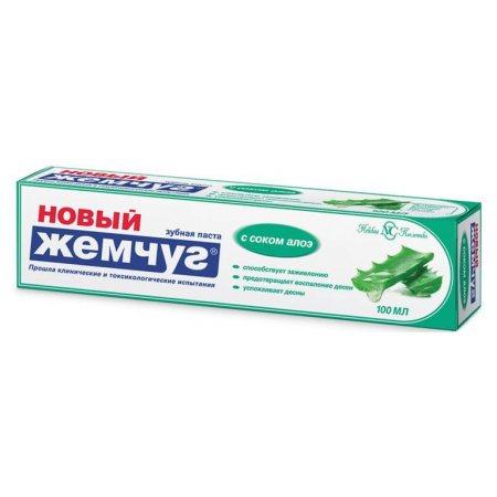 Зубная паста НОВЫЙ ЖЕМЧУГ С соком Алоэ 100мл