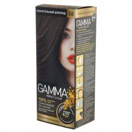 Крем-краска для волос GAMMA Perfect Color стойкая 5.0 Пленительный шоколад Окисл.крем 6%