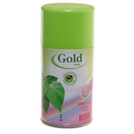 Освежитель воздуха GOLD MINT Plus Автоматический сменный 2в1 After rain 230мл