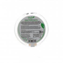 Пудра TRIUMPF Compact Powder Green Tea Компактная №01 Фарфоровый