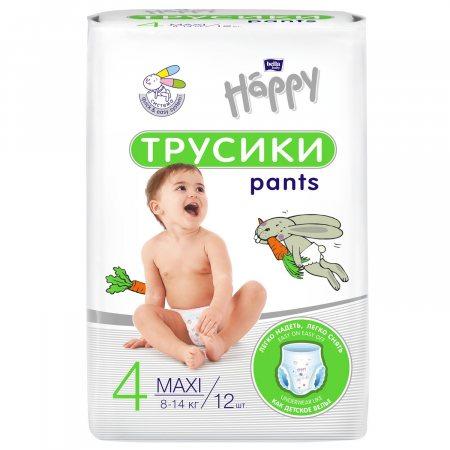 Подгузники-трусики BELLA HAPPY BABY 8-14кг 12шт 4 MAXI,Pants