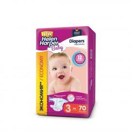 Подгузники HELEN HARPER Baby 4-9кг 70шт midi 3