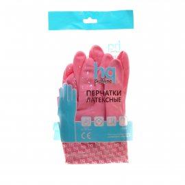 Перчатки Home Queen Profiline латексные р.M красные