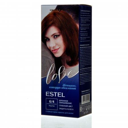 Крем-краска для волос ESTEL LOVE 6/4 Каштан