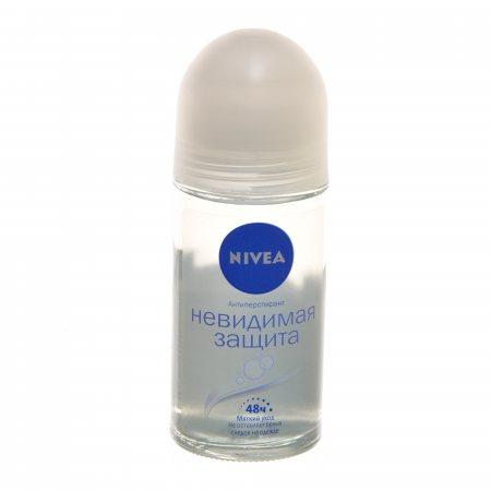 Дезодорант-антиперспирант NIVEA женский ролик Pure/Невидимая защита 48ч 50мл