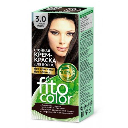 Крем-краска для волос FITOCOLOR стойкая 3.0 Темный каштан 115мл
