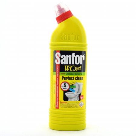 СЧС Гель SANFOR WC Санитарно-гигиенический Лимонная свежесть 750г